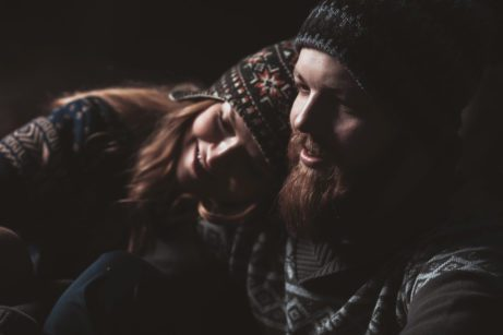 Bearded Man with Sweetheart on Valentine's Day