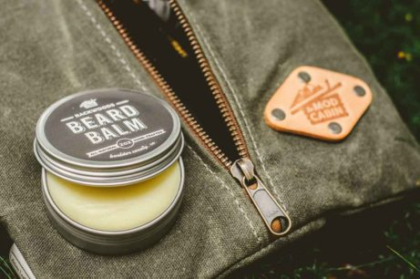 The Mod Cabin Backwoods Beard Balm with Canvas Pouch