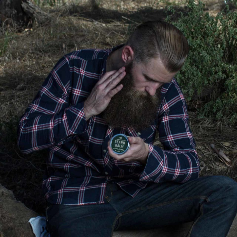 Matt Holding The Mod Cabin Beard Balm