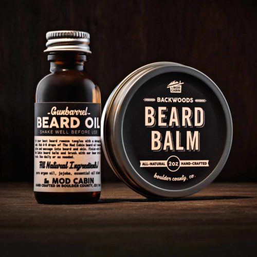 The Mod Cabin Backwoods Beard Balm Gunbarrel Beard Oil Set
