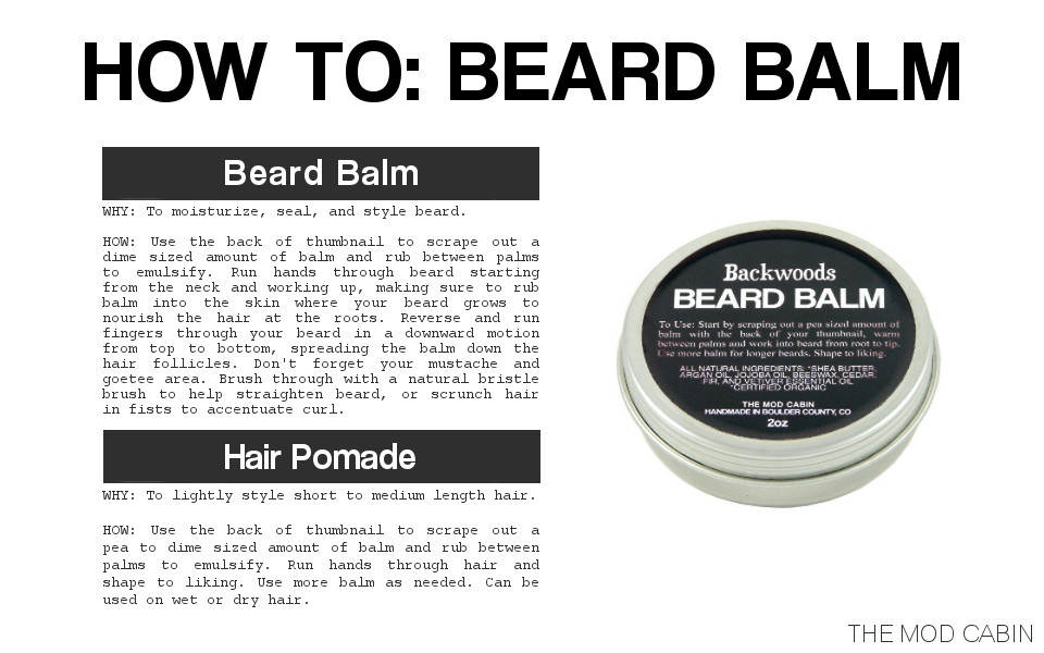 Beard Balm - How to choose | The Mod Cabin Grooming Co
