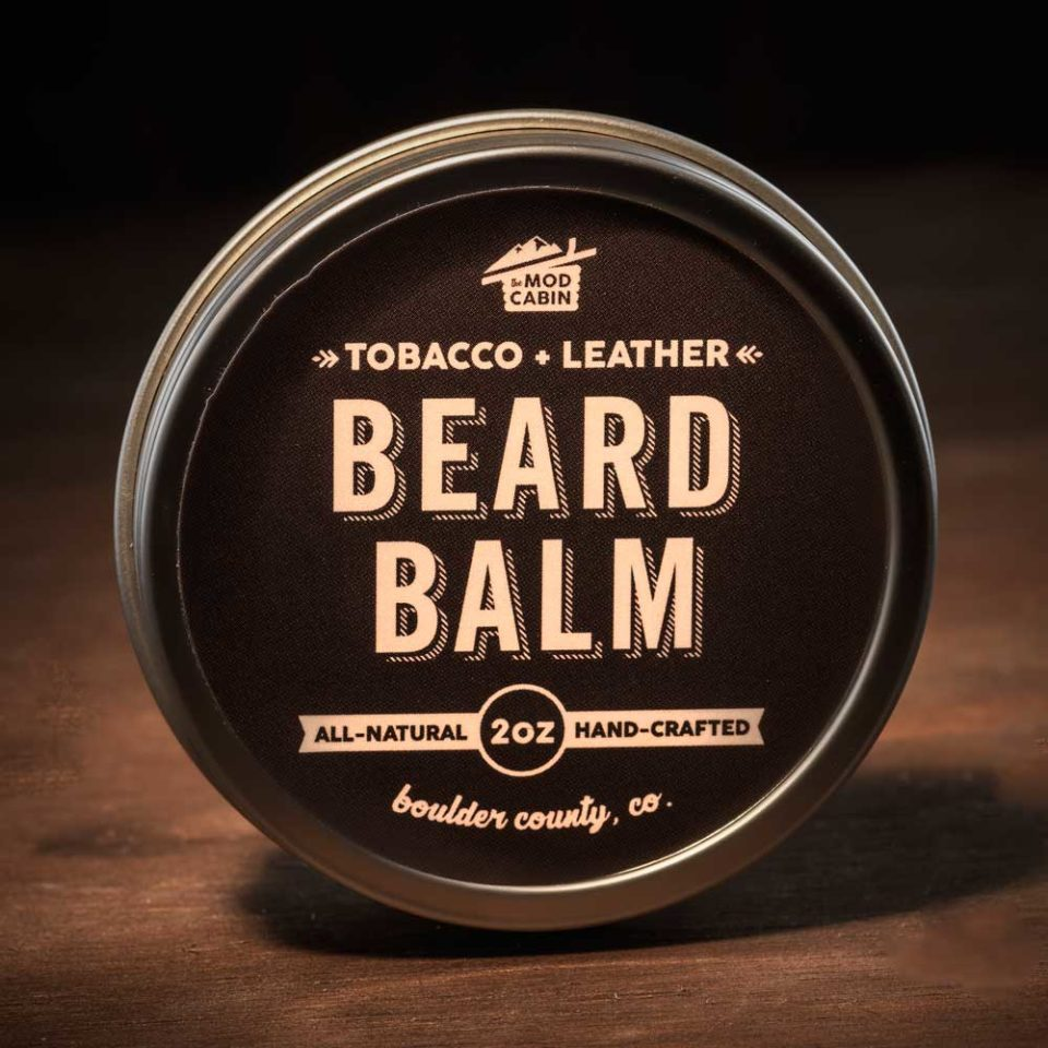 The Mod Cabin Tobacco and Leather Beard Balm