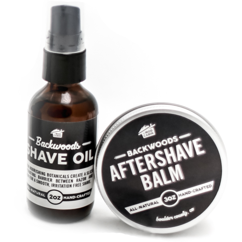 Shave Oil Aftershave Balm Set The Mod Cabin Grooming Co
