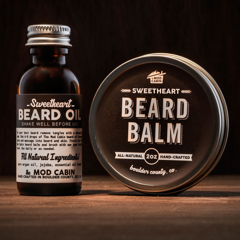 The Mod Cabin Sweetheart Beard Balm Beard Oil Set