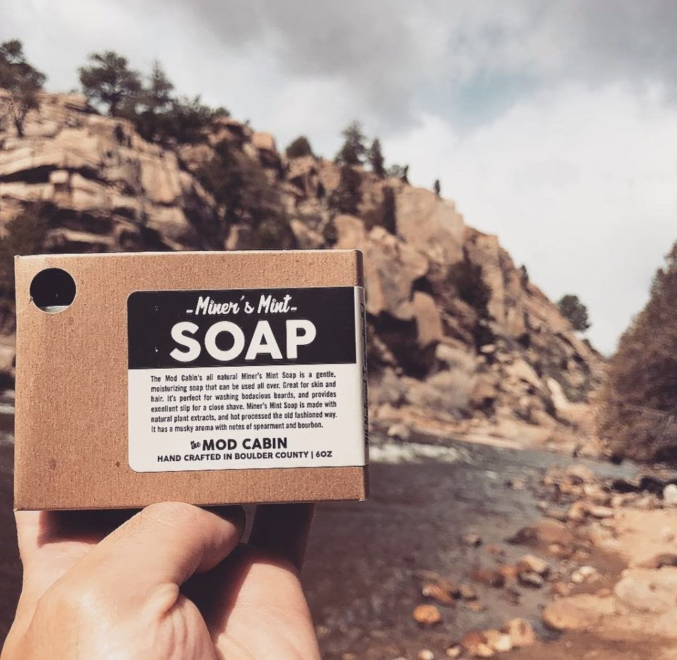 Man Holding The Mod Cabin Miner's Mint Soap