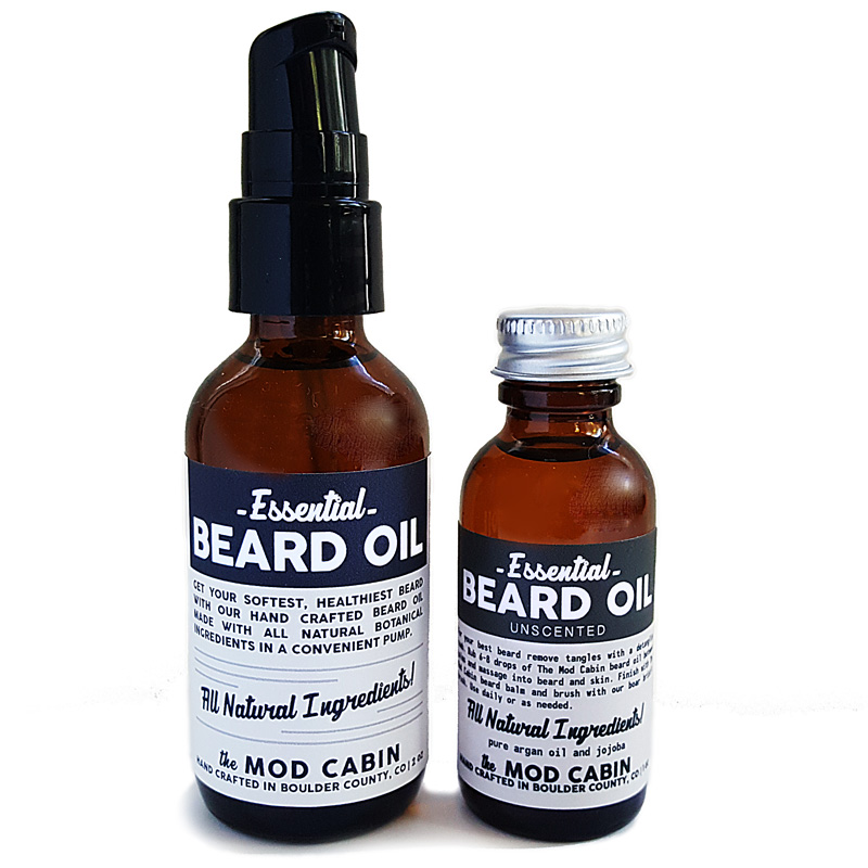 Essential Beard Oil Bottle and Pump