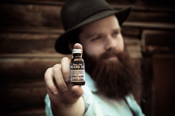 Joe Holding The Mod Cabin Beard Oil