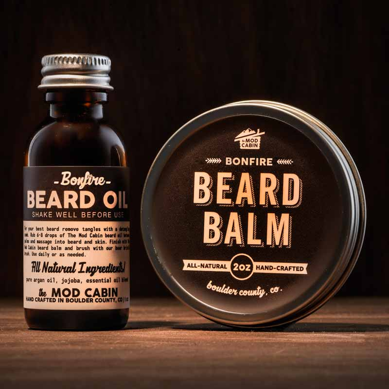 Bonfire Beard Balm + Beard Oil Set