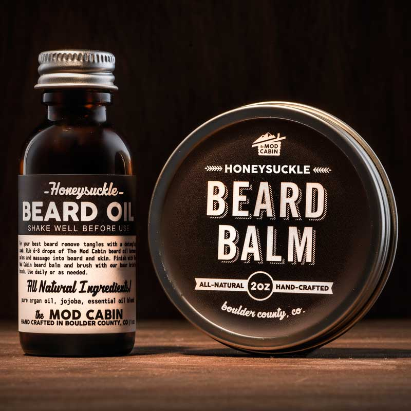 Honeysuckle Beard Balm Beard Oil Set